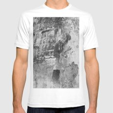 fading Mens Fitted Tee White SMALL