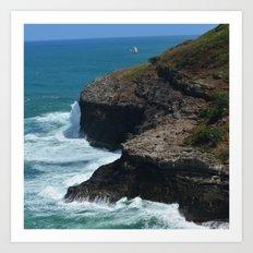 Ocean from Kilauea Lighthouse Art Print