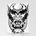 Yare Devil mask #1 Stationery Cards