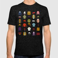 W.A Luggage Mens Fitted Tee Tri-Black SMALL