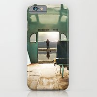 iPhone Cases featuring Emergency Door by Rachel Bellinsky