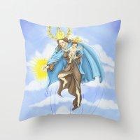 Superheroes SF Throw Pillow