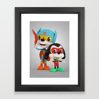 Bat Rat and Side Kick Framed Art Print