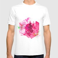 Splash1 Mens Fitted Tee White SMALL