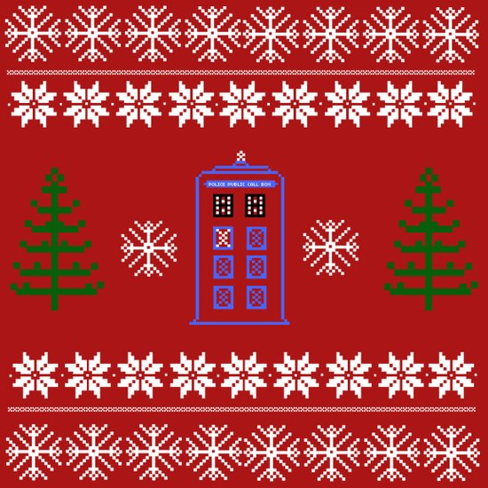 TARDIS CHRISTMAS SWEATER Art Print