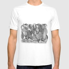 Mysterious Village SMALL Mens Fitted Tee White