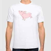 Little Pig Mens Fitted Tee Ash Grey SMALL