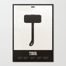 Thor - minimal poster Canvas Print