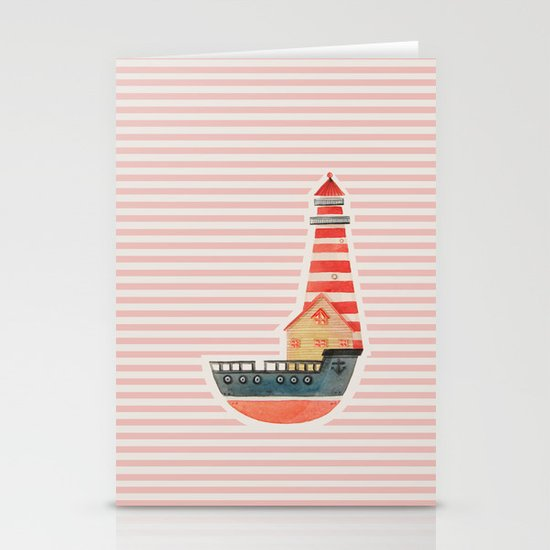 To The Land of Imagination Stationery Card