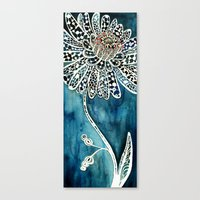 Flower Paintings: Lace F… Canvas Print