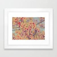 Vintage Blossoms - In Memory of Mackenzie Framed Art Print