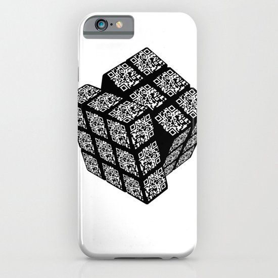 qr cube iPhone & iPod Case