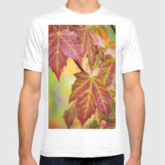 Maple Leaves Mens Fitted Tee White SMALL