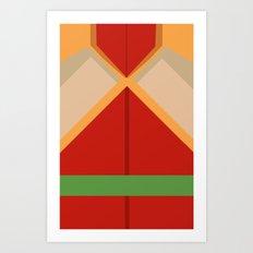 Fire Ferret Bolin Art Print