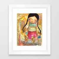Music - teacher and children Framed Art Print
