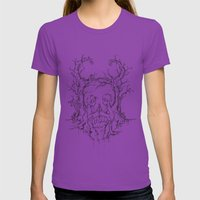 Summoner's Prayer Womens Fitted Tee Ultraviolet SMALL
