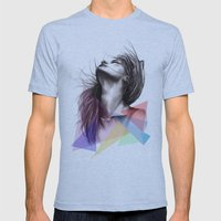Crystalised // Fashion Illustration  Mens Fitted Tee Athletic Blue SMALL