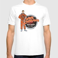 Dr. Dave Bowman's EVA Suits Mens Fitted Tee White SMALL