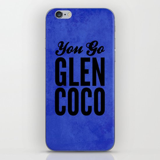 Glen Coco Blue iPhone & iPod Skin