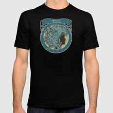 medusa silhouette (dark) Black SMALL Mens Fitted Tee