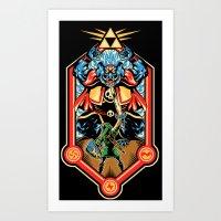 Epic Triforce of the Gods Art Print