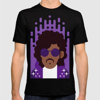 Purple Rain Mens Fitted Tee Black SMALL