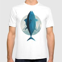 Northern Bluefin Mens Fitted Tee White SMALL
