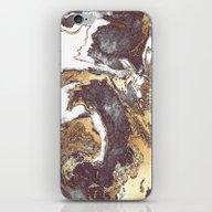 Black White Gold iPhone & iPod Skin