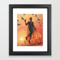 walking in the air Framed Art Print