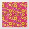Country flowers in pink Canvas Print