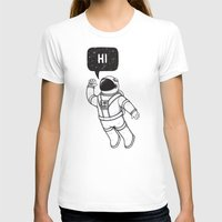 Greetings From Space Womens Fitted Tee White SMALL