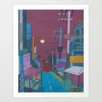 Seoul City #2 Art Print