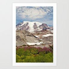Mount Rainier Hike Art Print