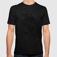 here's a little story that must be told Mens Fitted Tee Tri-Black SMALL