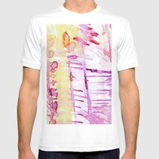 linear Mens Fitted Tee White SMALL