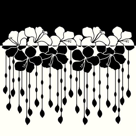 Hibiscus Bead Curtain: Positive Negative Art Print