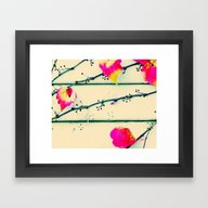 Framed Art Print featuring Autumn Leaves On The Wal… by Die Farbenfluesterin
