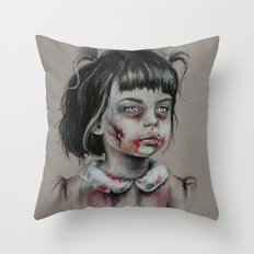 Cute but Zombie Throw Pillow