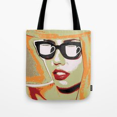She Blinded Me With Coff… Tote Bag