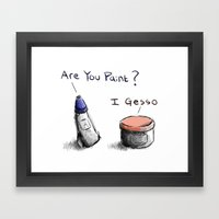 Silly Paint Framed Art Print