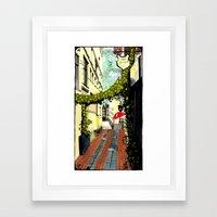Red umbrella, Amsterdam Framed Art Print