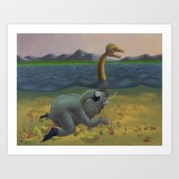 The Truth Of Loch Ness Art Print