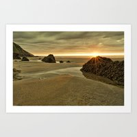 Putsborough Sands Art Print