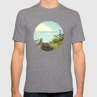 The Lost Cloud Mens Fitted Tee Tri-Grey SMALL