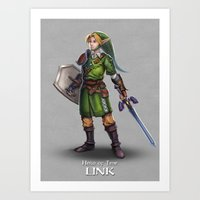 The Legend of Zelda: Link Art Print