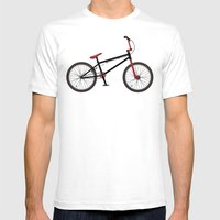 BMX Bike Mens Fitted Tee White SMALL