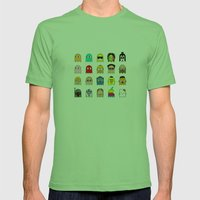 Pac Man Mens Fitted Tee Grass SMALL