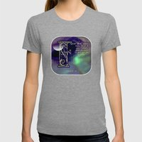 Fear Not Little Flock Womens Fitted Tee Tri-Grey SMALL