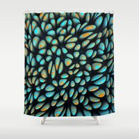 Blue Bloobly Shower Curtain