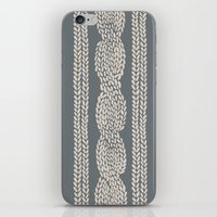 Cable Knit Grey iPhone & iPod Skin